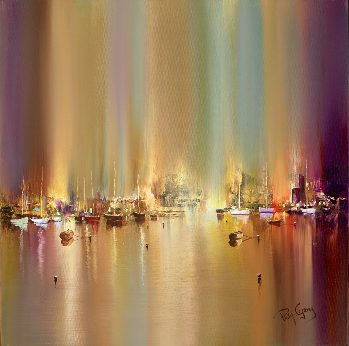 Quiet Harbour VI by philip gray -  sized 20x20 inches. Available from Whitewall Galleries